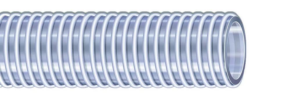 Manguera de Grado Alimenticio Food Krystal Light | Manguera de PVC transparente para succión y descarga de alimentos y bebidas